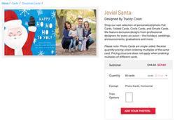 Jovial Santa Christmas Card