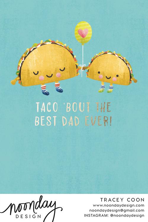 Taco Dad Card
