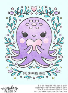 You Octopi My Heart Children's Illustration