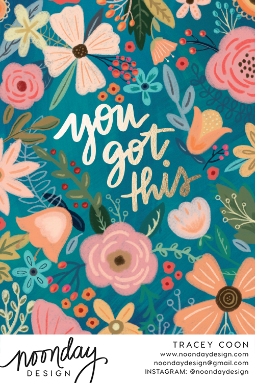 You Got This Floral Card