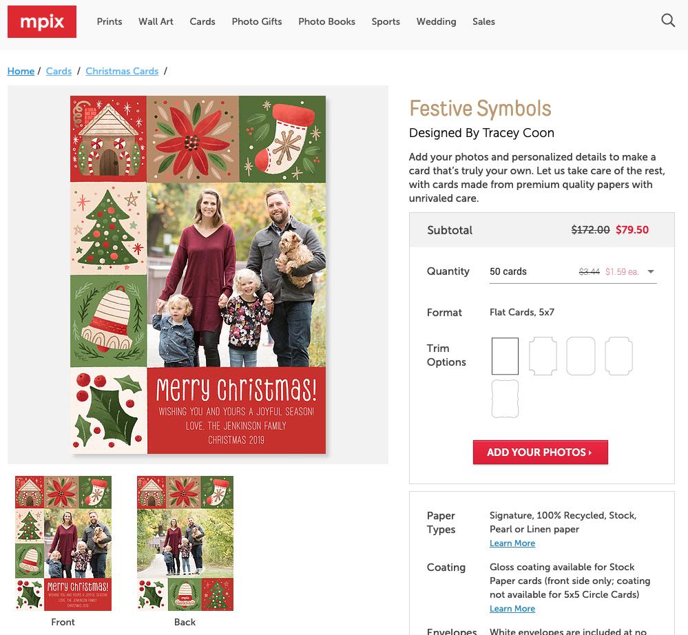 Festive Symbols Christmas Card