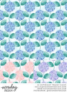 Summer Hydrangeas Surface Patterns