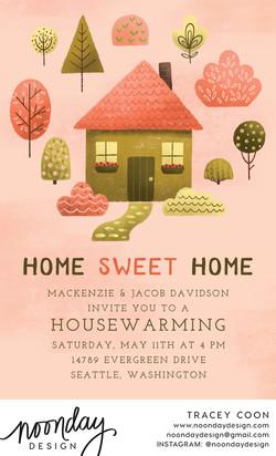 Home Sweet Home Invitation