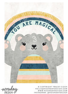 You Are Magical Bear Children's Illustration