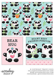 Panda Pals Surface Pattern Collection