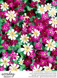 Field of Flowers Illustration