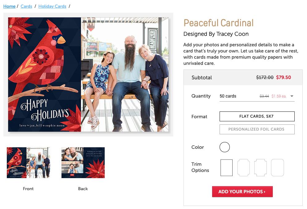 Peaceful Cardinal Christmas Card