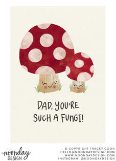 Such a Fungi Father's Day Card Illustration