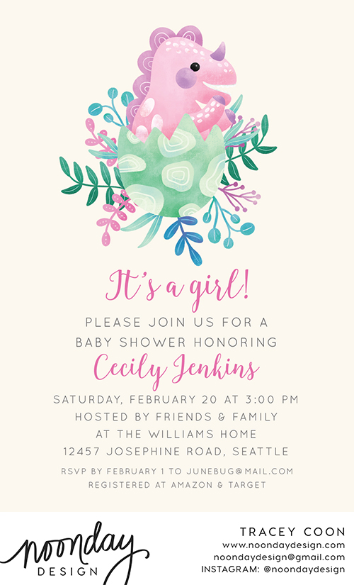 Baby Dinosaur Invitation
