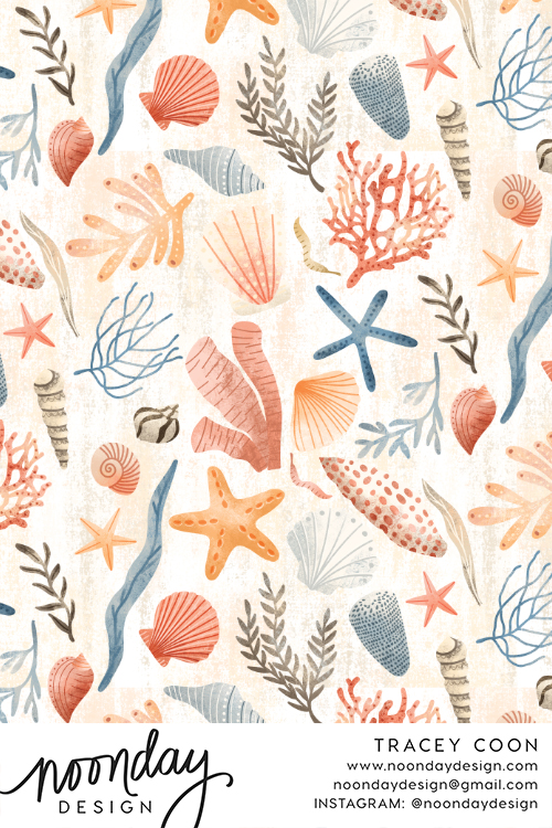 Day at the Beach Fabric