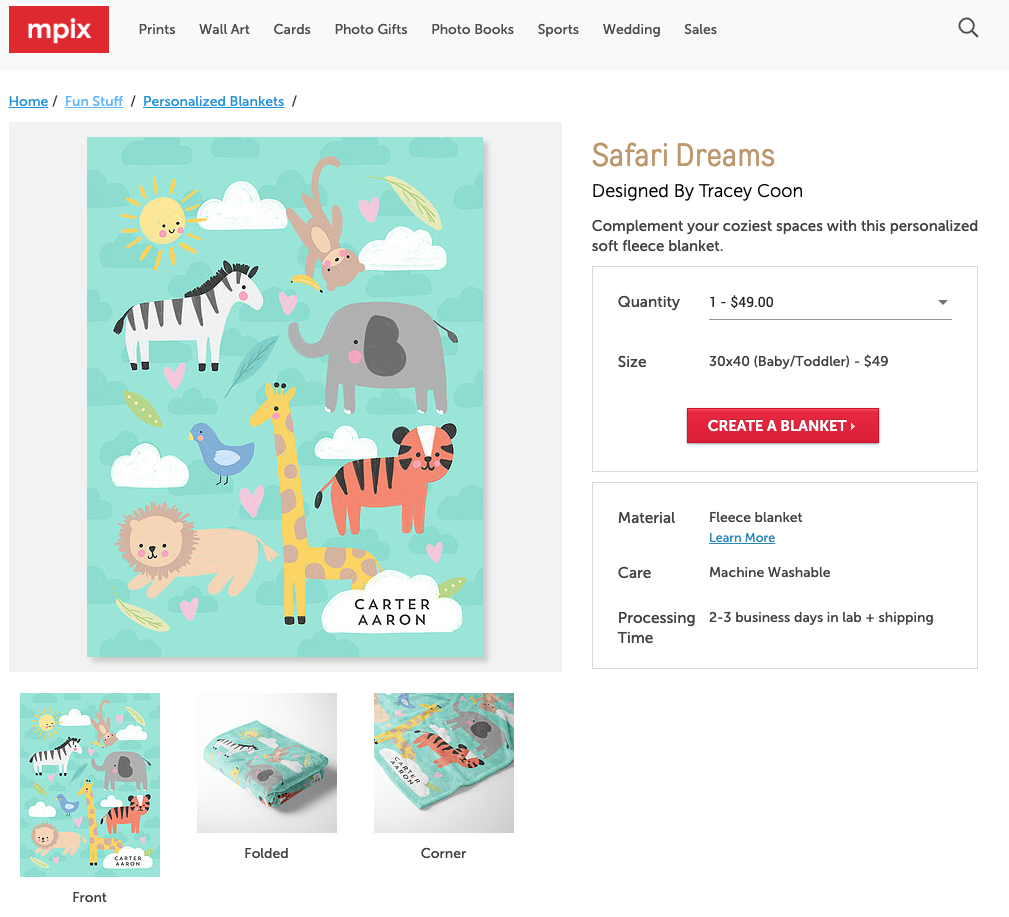 Safari Dreams Blanket