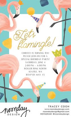 Let's Flamingle Invitation