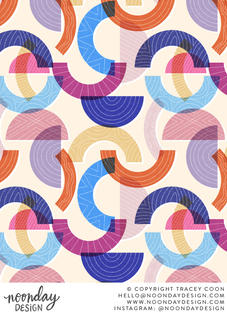 Abstract Riso Shapes Surface Pattern