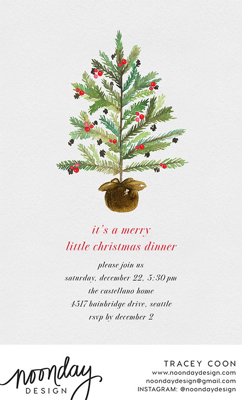 Holiday Sapling Invitation