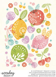 Tutti Frutti Abstract Food Illustration