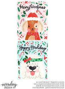 Christmas Puppies Illustrations