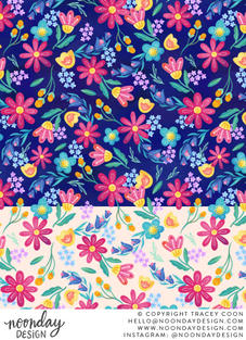 Bright Floral Surface Pattern