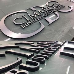 Logo in alluminio argento