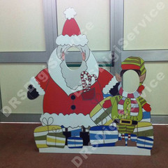 Babbo Natale con Elfo - sagoma autoreggente