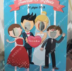 Photo Booth autoportante per foto matrimonio.