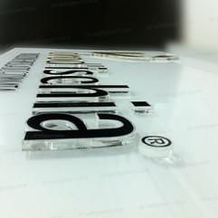 Lettere in plex