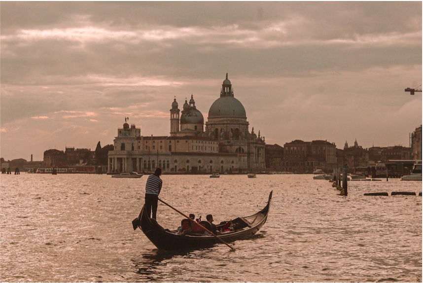 I was actually on a gondola myself when I took this - completely distracted. I saw this gondola push off into the distance and remember waiting for them to align up just under the Church of San Giorgio Maggiore so that I could take the shot. I had taken multiple of this church trying to capture it in many different ways, but nothing quite highlighted it like this moment as the sun set.