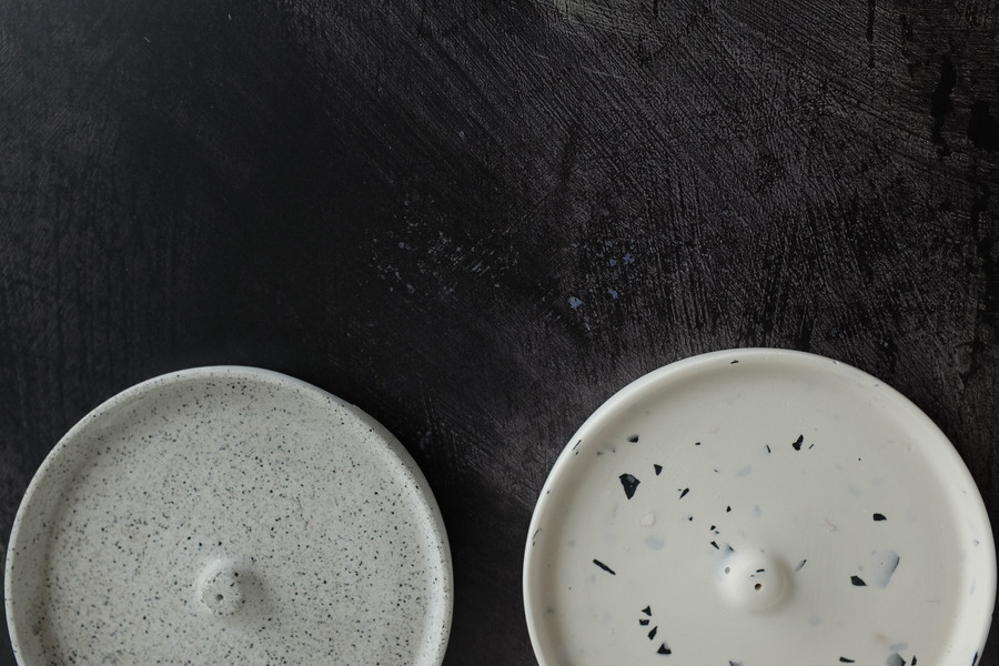 Fine and Large Terrazzo Incense Holders.
