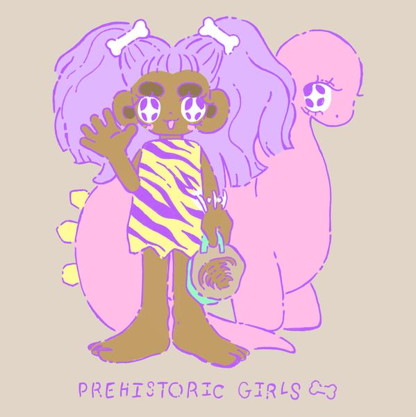 illust prehistoric girls digital 2020.pn