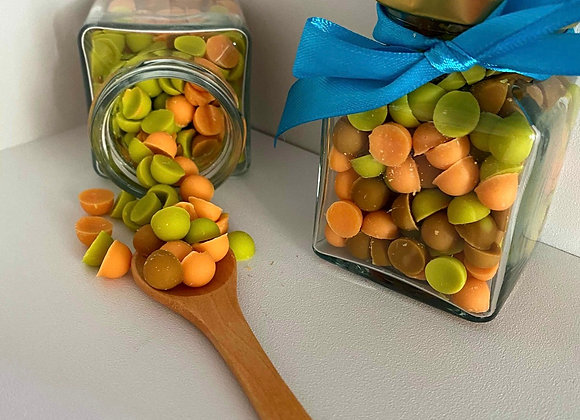 Pretty Dots - Lime Basel and Mandarin
