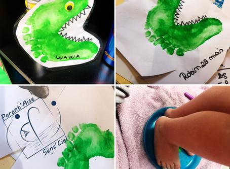 Des pieds verts.... non un dinosaure !