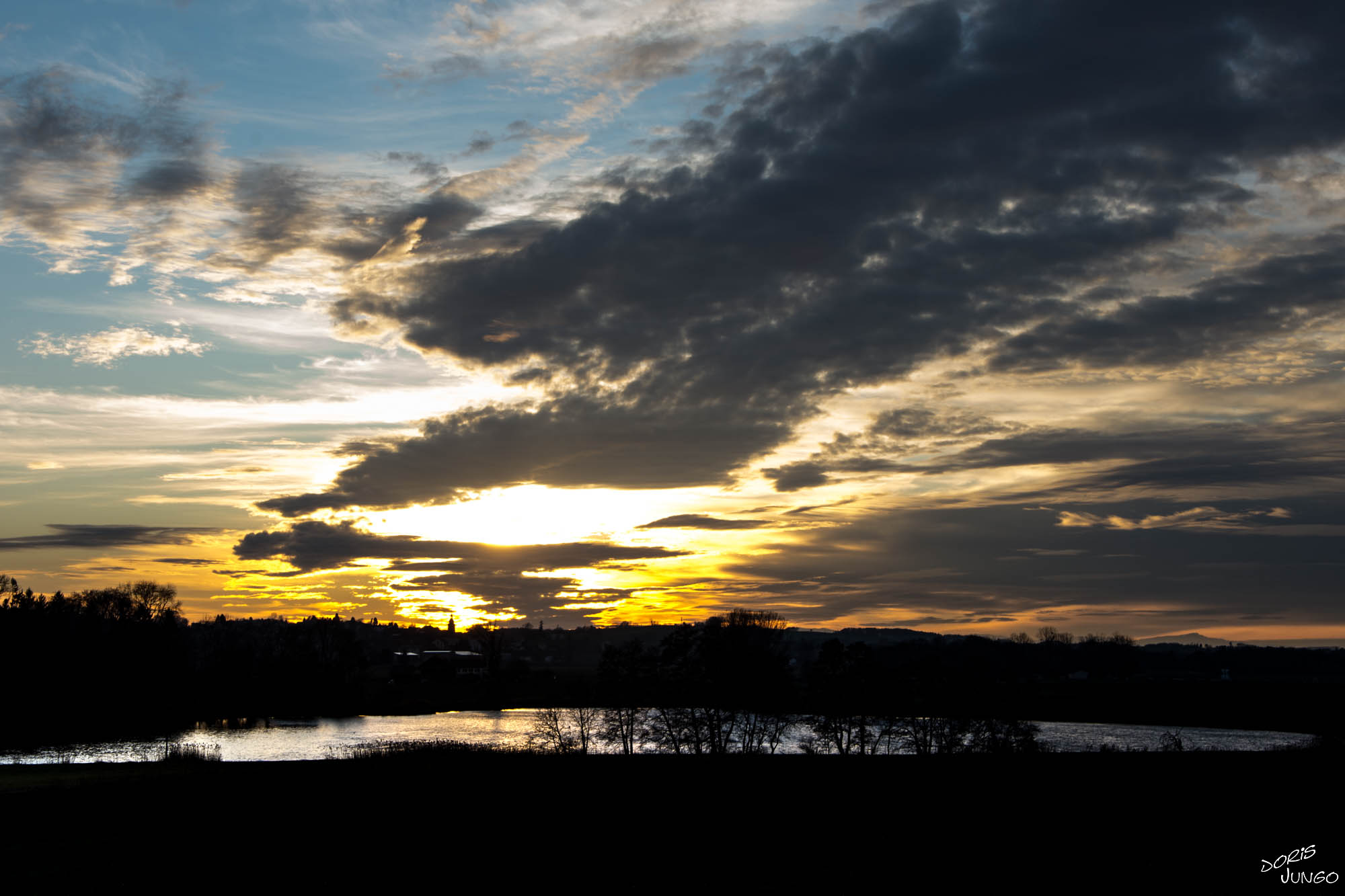 Lac de Seedorf au coucher du soleil