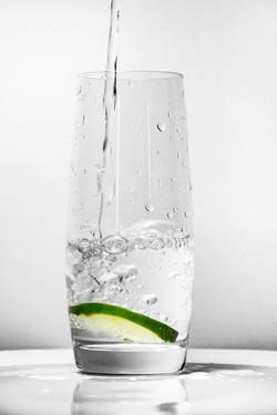 Lime dans l'eau fraìche