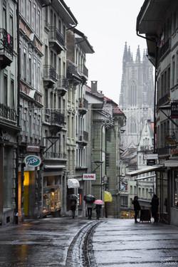 La rue de Lausanne