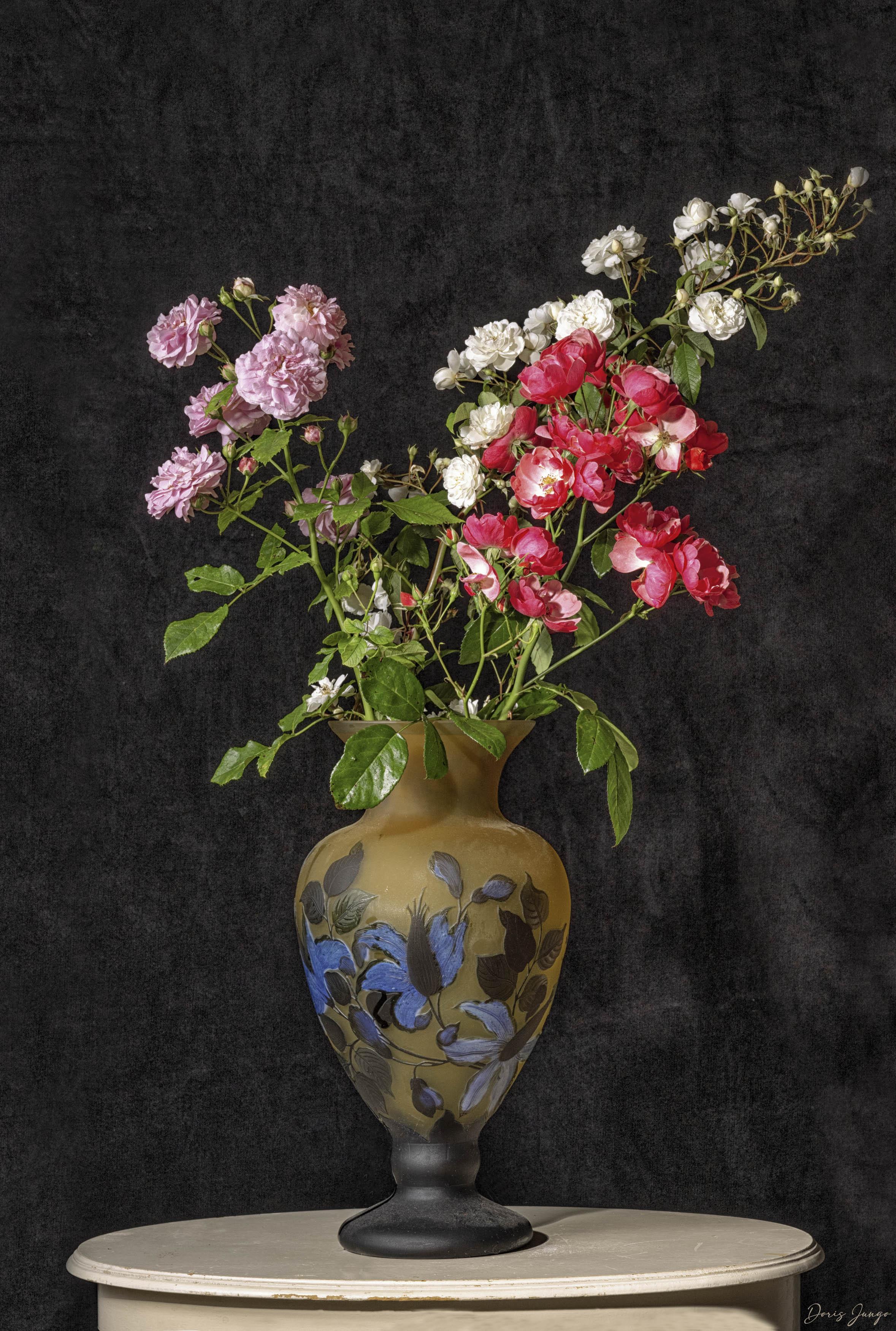 Le grand bouquet de roses