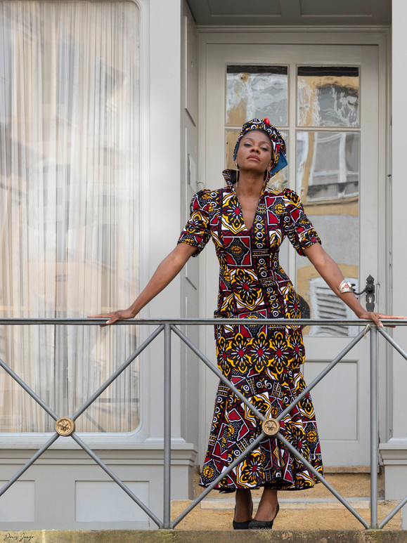 Magnifique robe présentée par Bibie