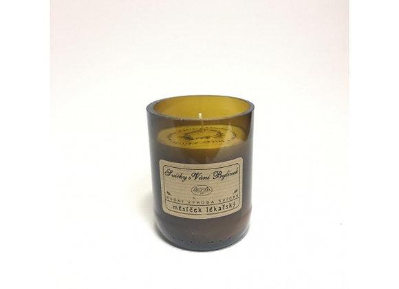 Sojová svíčka z lahve od piva