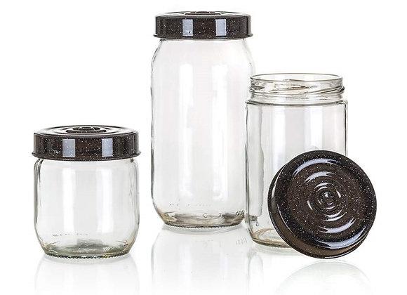 Granit glass jar small