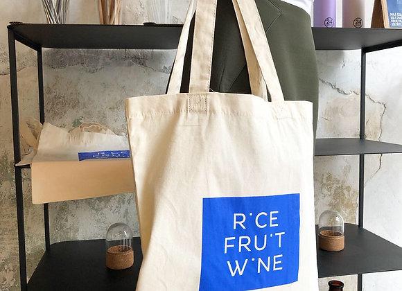 Cotton tote bag Rice, fruit, wine
