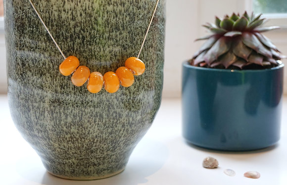 Sterling Silver & Resin bead necklace