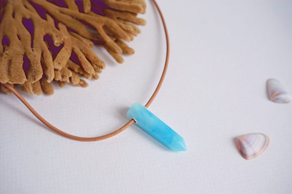Resin pendant & cord necklace