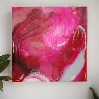 A -W A V E - O F - H A P P I N E S S   resin painting 30x30cm