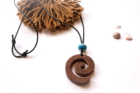 Wood & Resin cord necklace