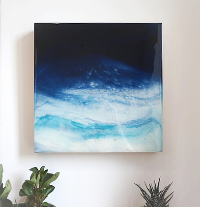 M O O N L I G H T   Original resin painting 30x30cm