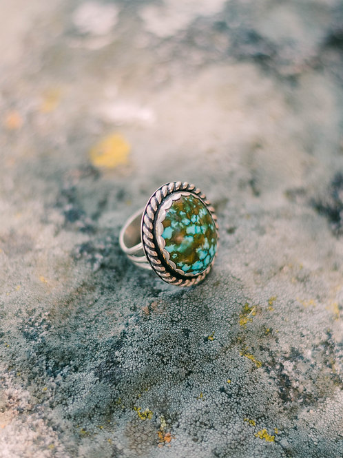 The Royston Turquoise Ring, Size 6.75