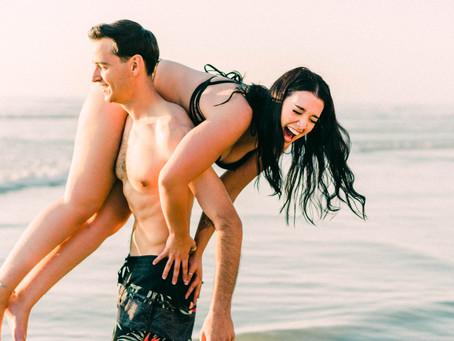 Jules and Kev at Blacks Beach
