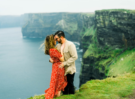 Sam and Thomas on the Cliffs of Moher, Ireland