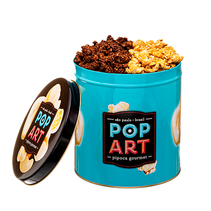 Lata Pop Art G- 2 sabores