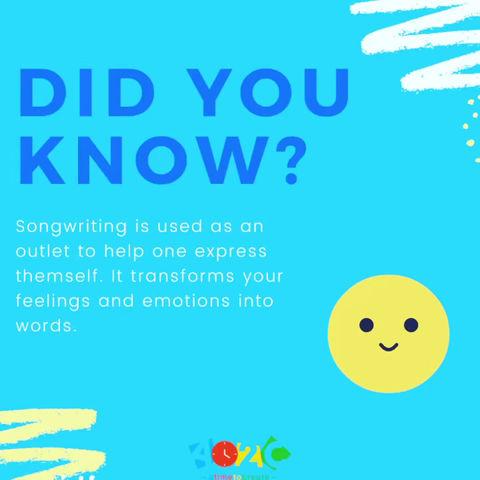 Songwriting is helpful 😊
