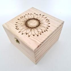 Sunflower Trinket Box Large