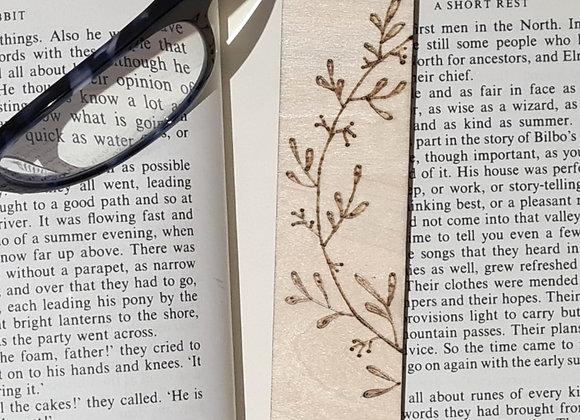Plywood Bookmark - Wreath Design